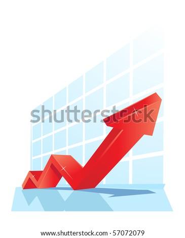 shining vector diagram - stock vector