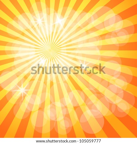 Shinning summer sun - stock vector