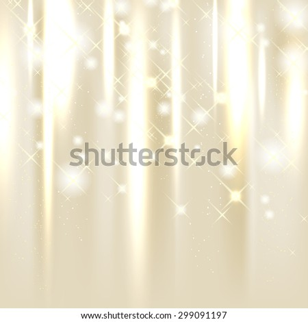 Shiny background with stars and place for your text - vector illustration - stock vector