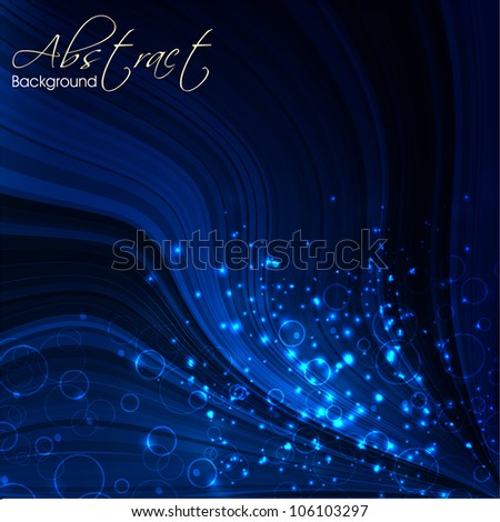 Shiny blue abstract background. EPS 10. - stock vector
