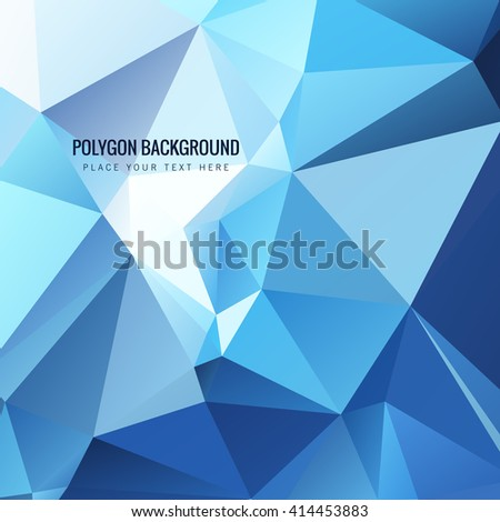 Shiny blue polygin background - stock vector