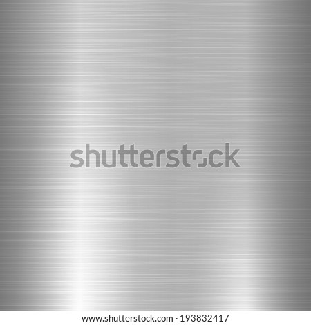 Shiny brushed metal texture - stock vector