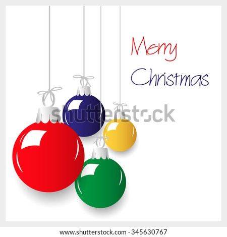 shiny colors christmas decoration baubles hanging eps10 - stock vector