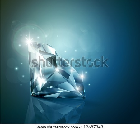 Shiny diamond background - stock vector