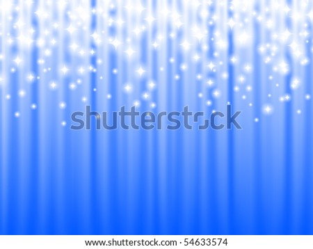 shiny holiday background in blue, copyspace - stock vector
