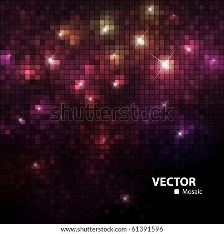 shiny mosaic - stock vector