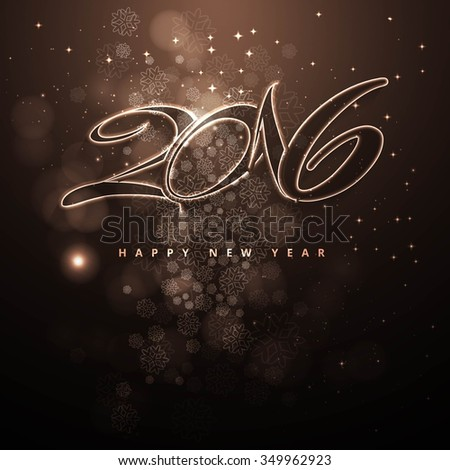Shiny new year background in brown tones vector - stock vector