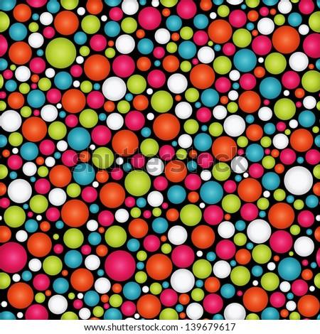 shiny polka dot vector background - stock vector