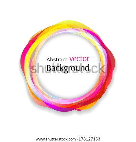 Shiny rainbow circles background. Vector illustration with space for your text. - stock vector