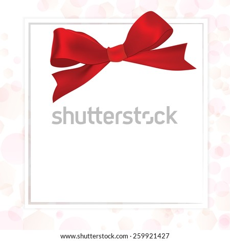 Shiny red satin ribbon - stock vector