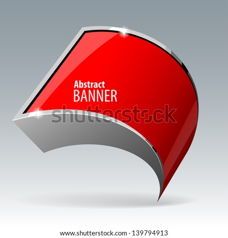 Shiny red vector banner eps 10 - stock vector