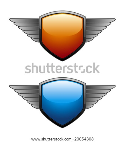 Shiny Shield in two different colors. - stock vector
