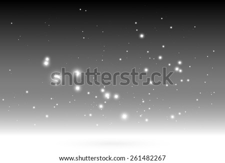 Shiny sparkles falling vector background template - Vector glitters and sparkles on gray background illustration - stock vector