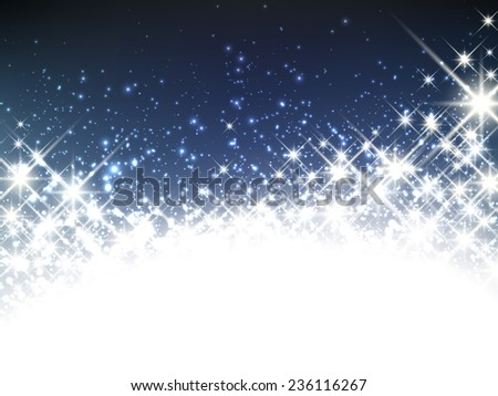 Shiny starry christmas banner. Vector winter Illustration. - stock vector