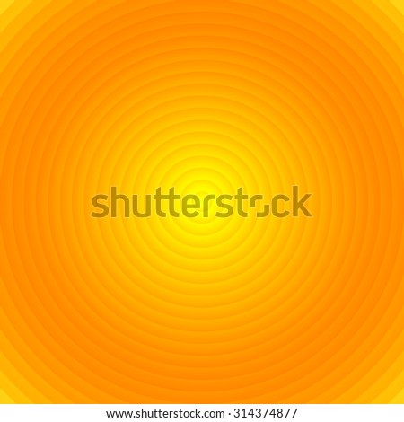 Shiny summer lights, abstract radial lines background. - stock vector