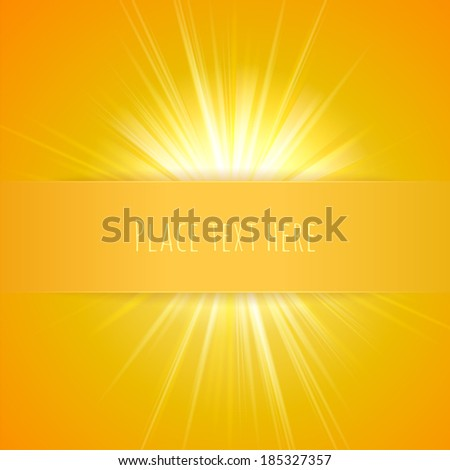 shiny sun vector with place for text - stock vector