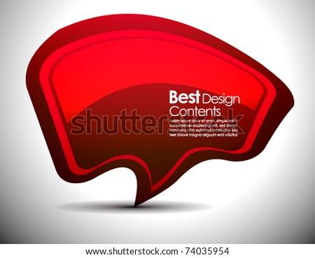 Shiny vector bubbles shape for speech , editable illustration - stock vector