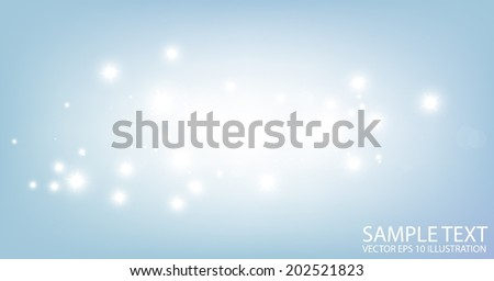 Shiny vector stars background illustration - Vector abstract blue shiny template background - stock vector