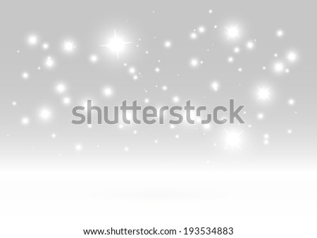 Shiny winter vector glittering background template - Sparkles in space  background illustration - stock vector