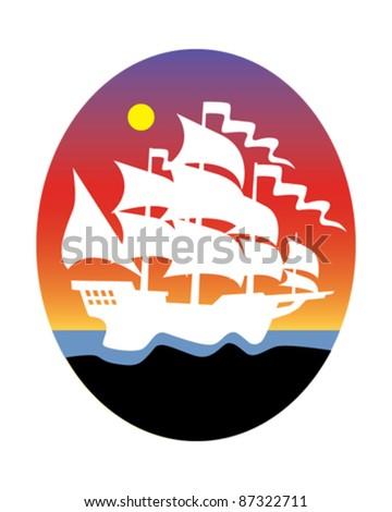 Ship - stock vector