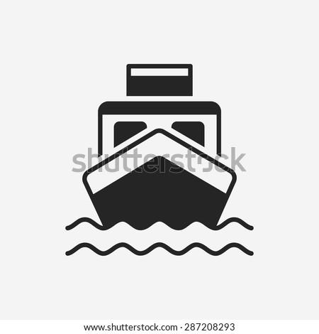 ship boat icon - stock vector