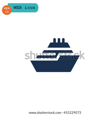 Ship icon Flat . - stock vector
