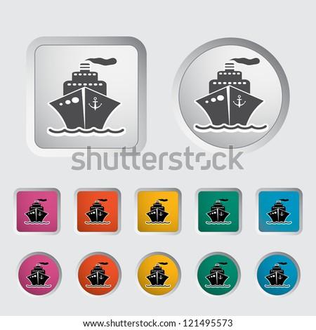 Ship icon. Vector illustration. - stock vector