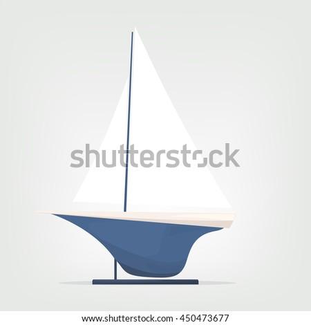 Ship model - stock vector