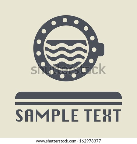 Ship porthole icon or sign, vector illustration - stock vector