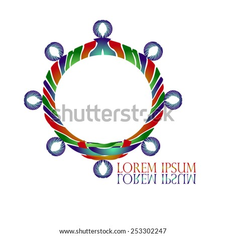 Ship's Wheel Logo vector design corporate business template. Yacht club symbol. Yachting sport concept. Creative logo for Travel & Tourism, Nautical Transportation & Recreation businesses.  - stock vector