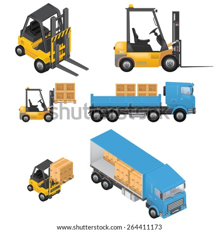 Shipment Icons - stock vector
