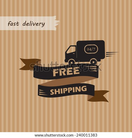 shipments and free delivery. vector illustration - stock vector