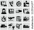 Shipping and delivery icons set. - stock vector