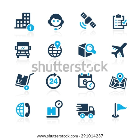 Shipping and Tracking // Azure Series - stock vector