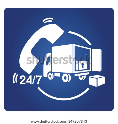 shipping service, delivery service - stock vector