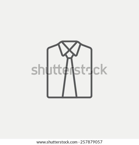 Shirt and tie icon - stock vector