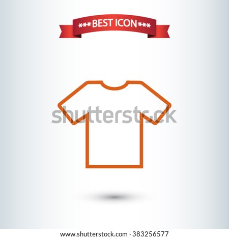 shirt icon. One of set web icons - stock vector