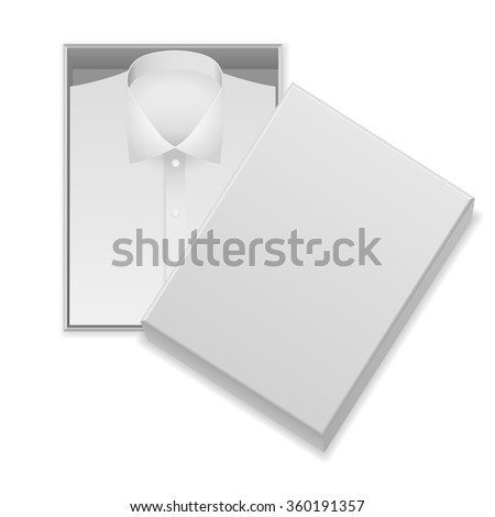 Shirt in box on a white background. - stock vector