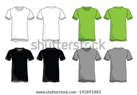 Shirt Vector Template - stock vector