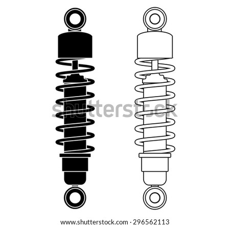 Shock Absorber. Vector illustration isolated on white background - stock vector