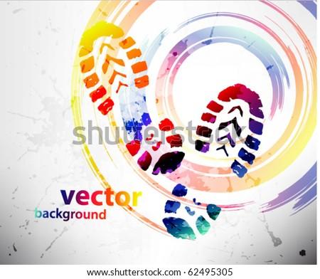 Shoe prints - stock vector