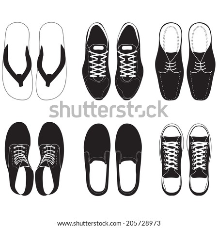 shoe vector set  - stock vector