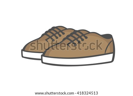 Shoes. Iced coffee sneakers on a white background. Vector illustration - stock vector