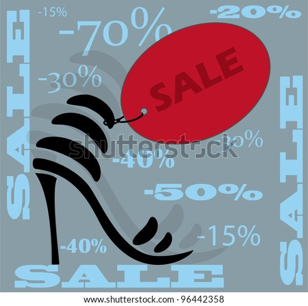 Shoes icon. Sale. Vector. - stock vector