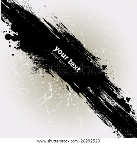 shooting ink/paint splat isolated from the white background ideal to place text over - stock vector