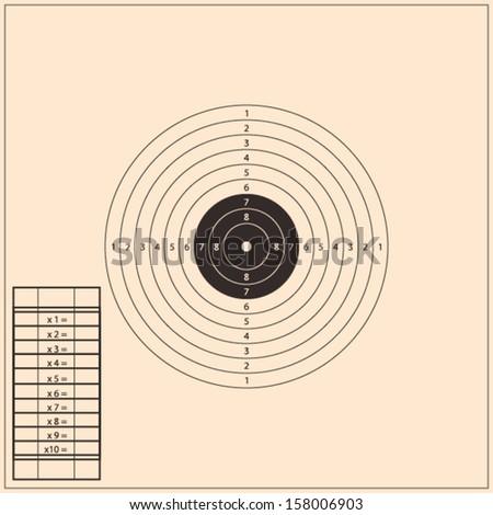 Shooting Range Target. Vector - stock vector