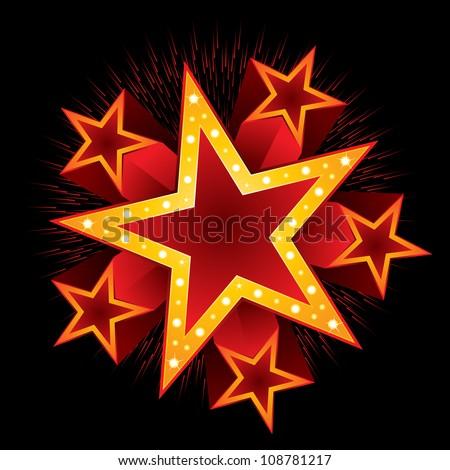 Shooting stars - stock vector
