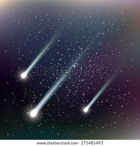 Shooting stars. Vector Illustration - stock vector