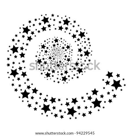 shooting wishing stars for christmas - stock vector