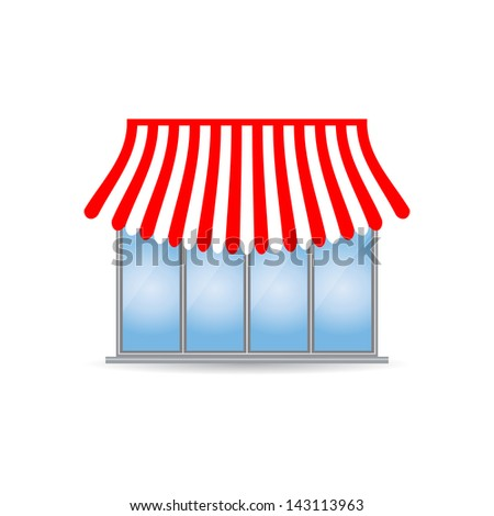 shop icon with special design - stock vector